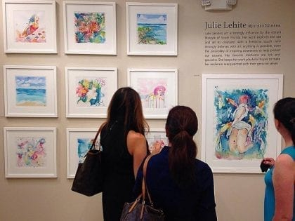 Artist of the sea - Julie Lehite opening exhibition