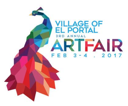 El Portal 3rd Annual Art Fair Logo